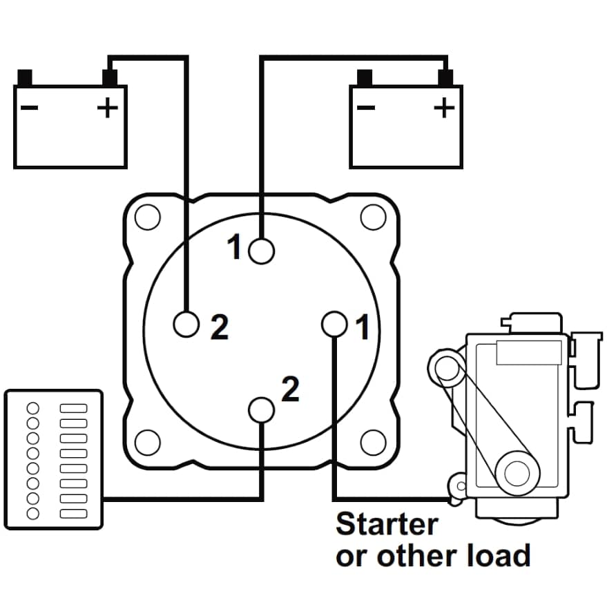 battery switch wiring diagram marine