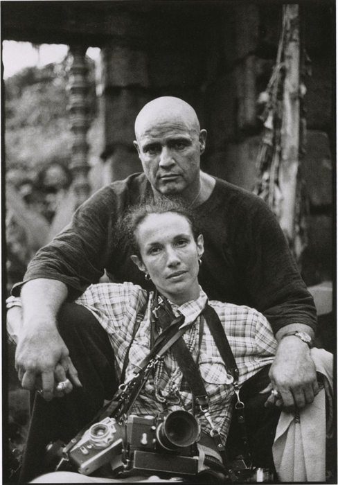 Mary Ellen Mark, Self-Portrait with Marlon Brando on the Set of Apocalypse Now, 1979.