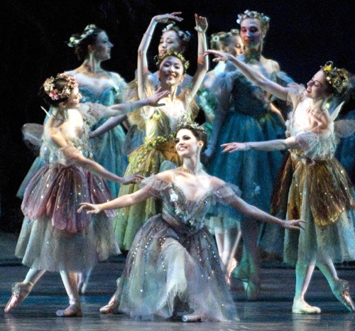 "American Ballet Theatre in ""The Dream."" Photo Gene Schiavone."