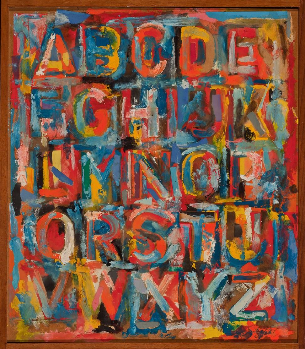 Jasper Johns. Alphabet, 1959. The Art Institute of Chicago, Gift of Edlis/Neeson Collection. © Jasper Johns/Licensed by VAGA, New York, NY