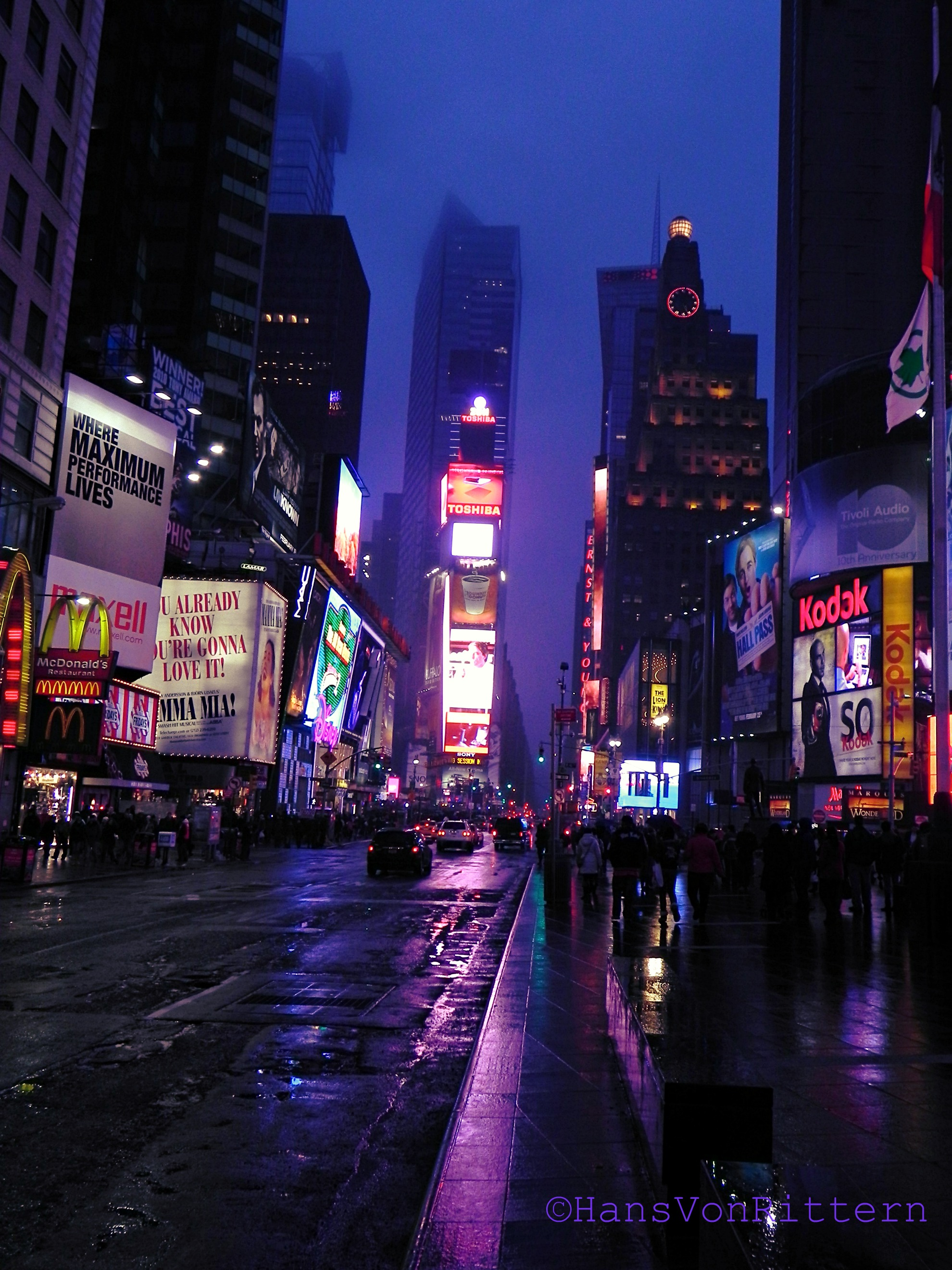 Square 3d Wallpaper Neon Lights New York City In The Wit Of An Eye