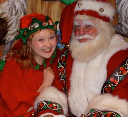 """Stylist to the star- Santa Claus. In some circles, she's known as """"Gingersnap, the elf""""."""