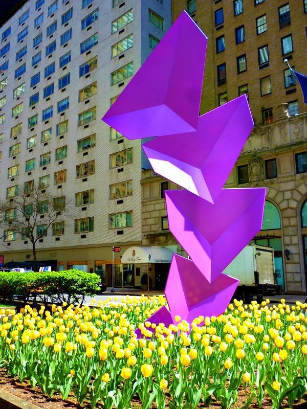 Tulips and street art on Park Avenue