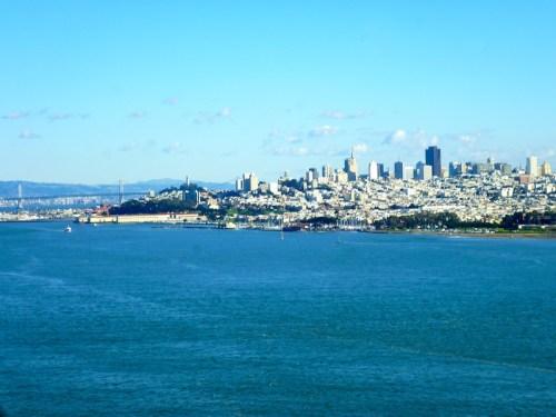 San Francisco as seen from the Golden Gate Bridge