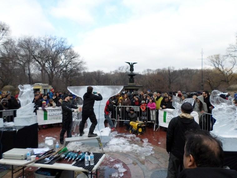 Central Park Ice Festival sculture