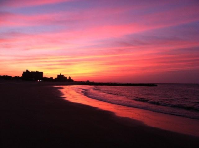 coney island sunrise