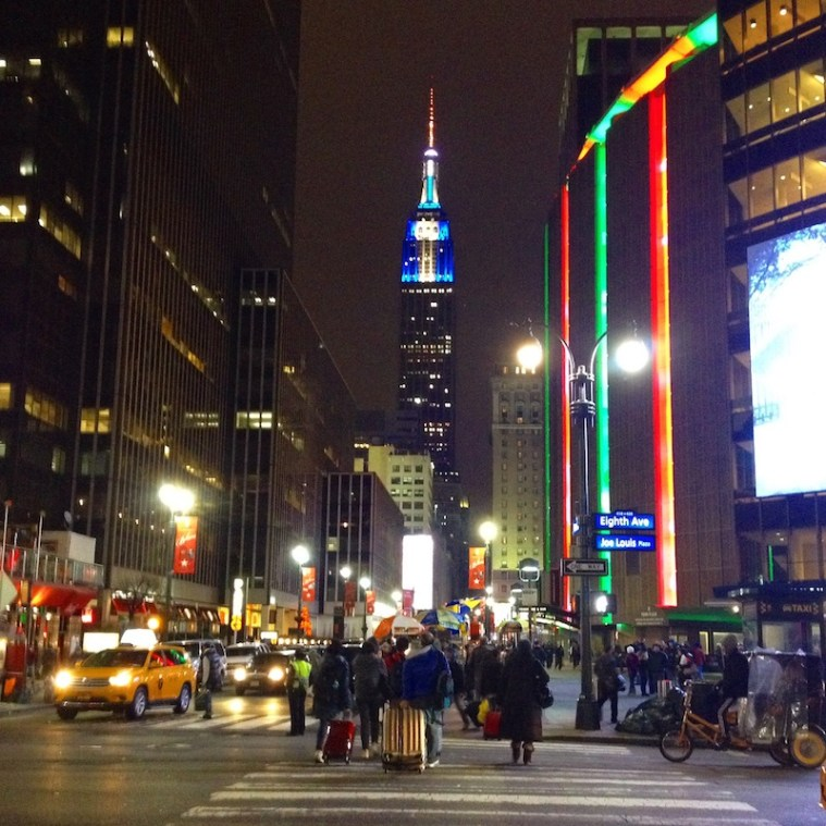 empire state MSG christmas