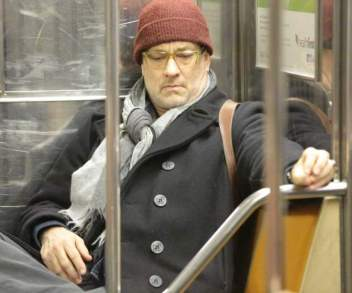 Tom Hanks seen riding the subway