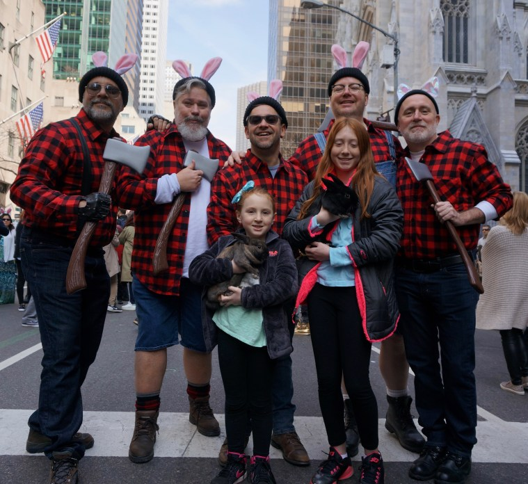 easter-bonnet-parade-nyc-lumberjack-rabbits