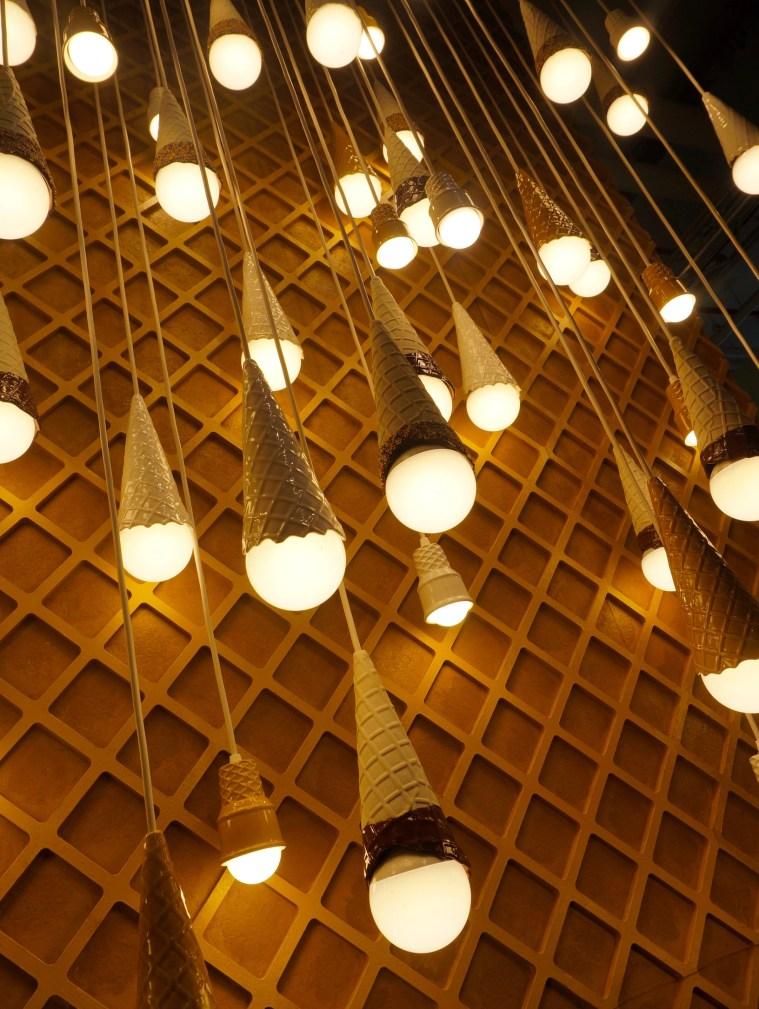 museum of ice cream cone lights