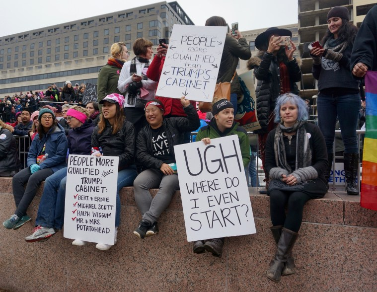 womens march washington dc many signs