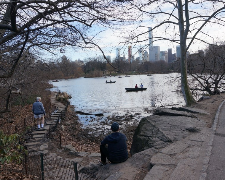 central park february boats