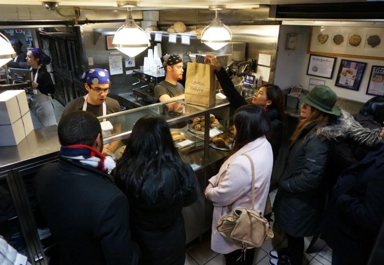 inside levain bakery nyc