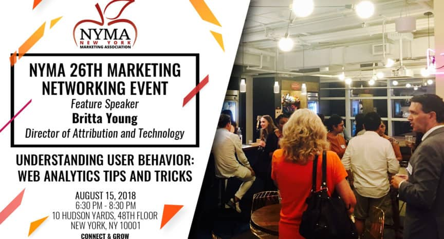 NYMA 26th Marketing Networking Event - Understanding User Behavior