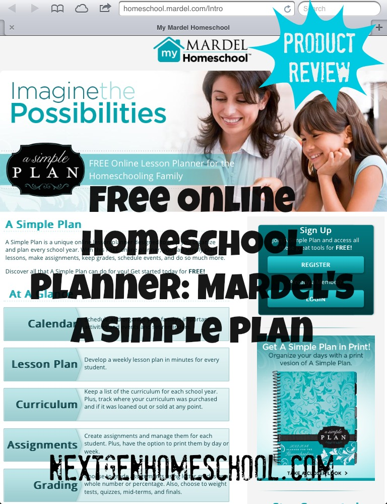 Free Online Homeschool Planner & Mardel Simple Plan Collection Giveaway!
