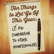 Ten Things to Let Go of This Year: Comparison
