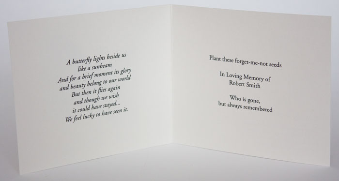 funeral verses Next Gen Memorials - funeral words for cards