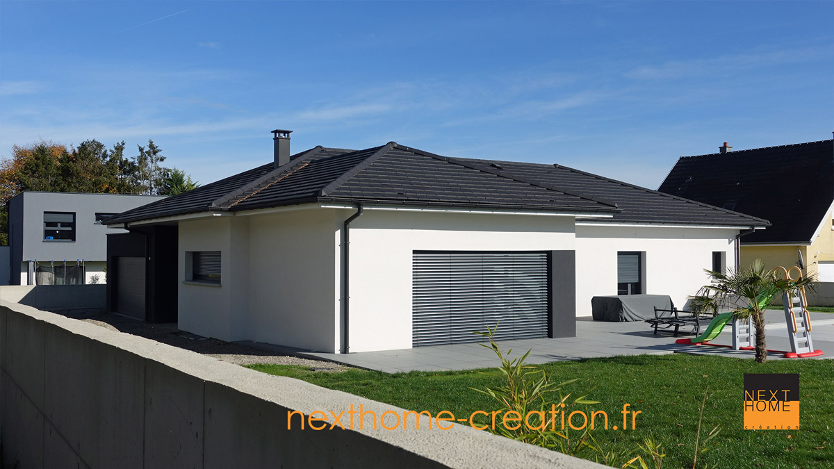 Photo Maison Plain Pied Maison Plain Pied Contemporaine Nexthome Création