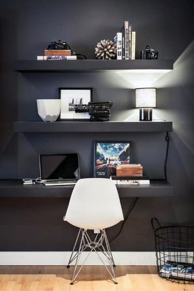 75 Small Home Office Ideas For Men - Masculine Interior Designs