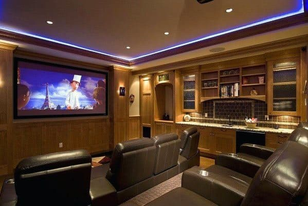 Theater Room Ideas Top 40 Best Crown Molding Lighting Ideas - Modern Interior
