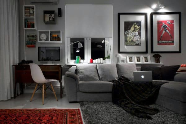 100 Bachelor Pad Living Room Ideas For Men - Masculine Designs - cool living room furniture