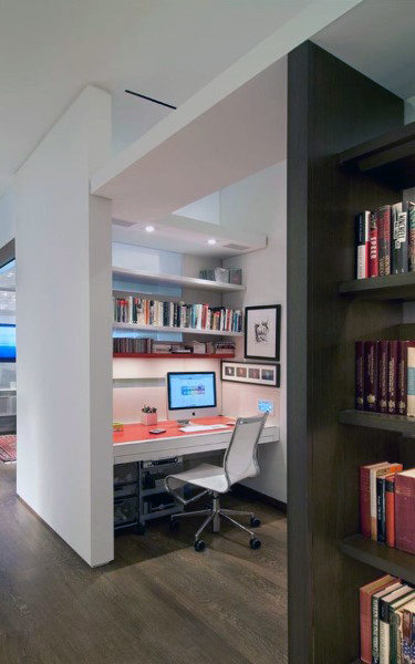 75 Small Home Office Ideas For Men - Masculine Interior Designs - modern home office ideas