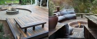 Top 50 Best Deck Fire Pit Ideas - Wood Safe Designs