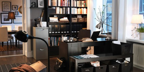 Home Office Ideas For Men - Work Space Design Photos - Next Luxury - living room office ideas