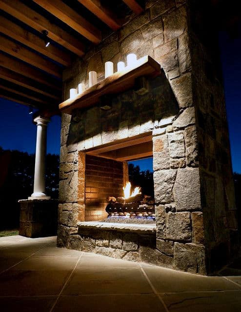 Repeindre Une Cheminée En Pierre 70 Outdoor Fireplace Designs For Men - Cool Fire Pit Ideas