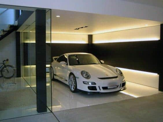 Deckenleuchte Modern Led 50 Garage Lighting Ideas For Men - Cool Ceiling Fixture