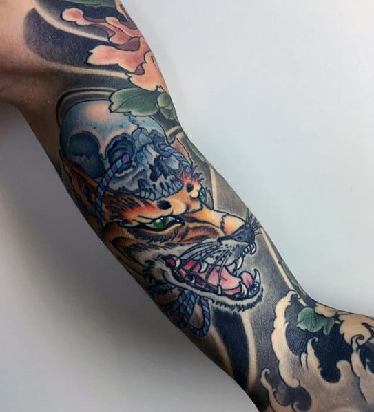 Manly Fall Wallpaper 80 Kitsune Tattoo Designs For Men Japanese Fox Ink Ideas
