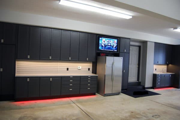 masculine home garage ideas black cabinet storage units fridge cool storage garage ideas cabinets shelves cool garage