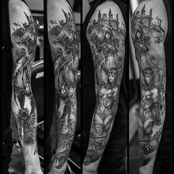 70 World Of Warcraft Tattoo Designs For Men - Video Game Ink Ideas