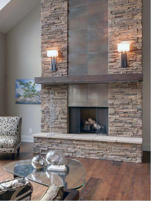 stone fireplaces indoor