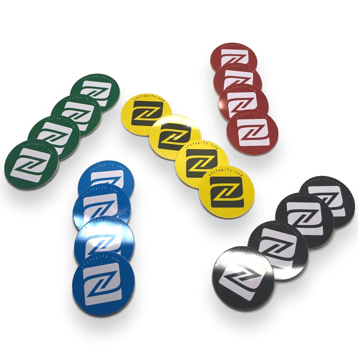 Nfc Tags Nfc Tags Ntag215 Elegant Design Mixed Colours Suitable For Home And Office Appliances 25 Mm Hard Pvc And Strong 3m Glue Same Chip With Tagmo