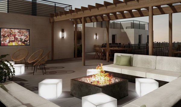 Rooftop interior design in washington dc virginia
