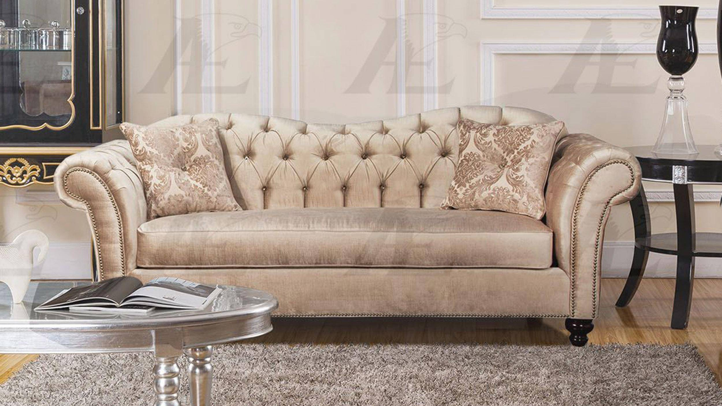 American Sofa Images American Eagle Ae2600 Ch Sofa In Champagne Fabric
