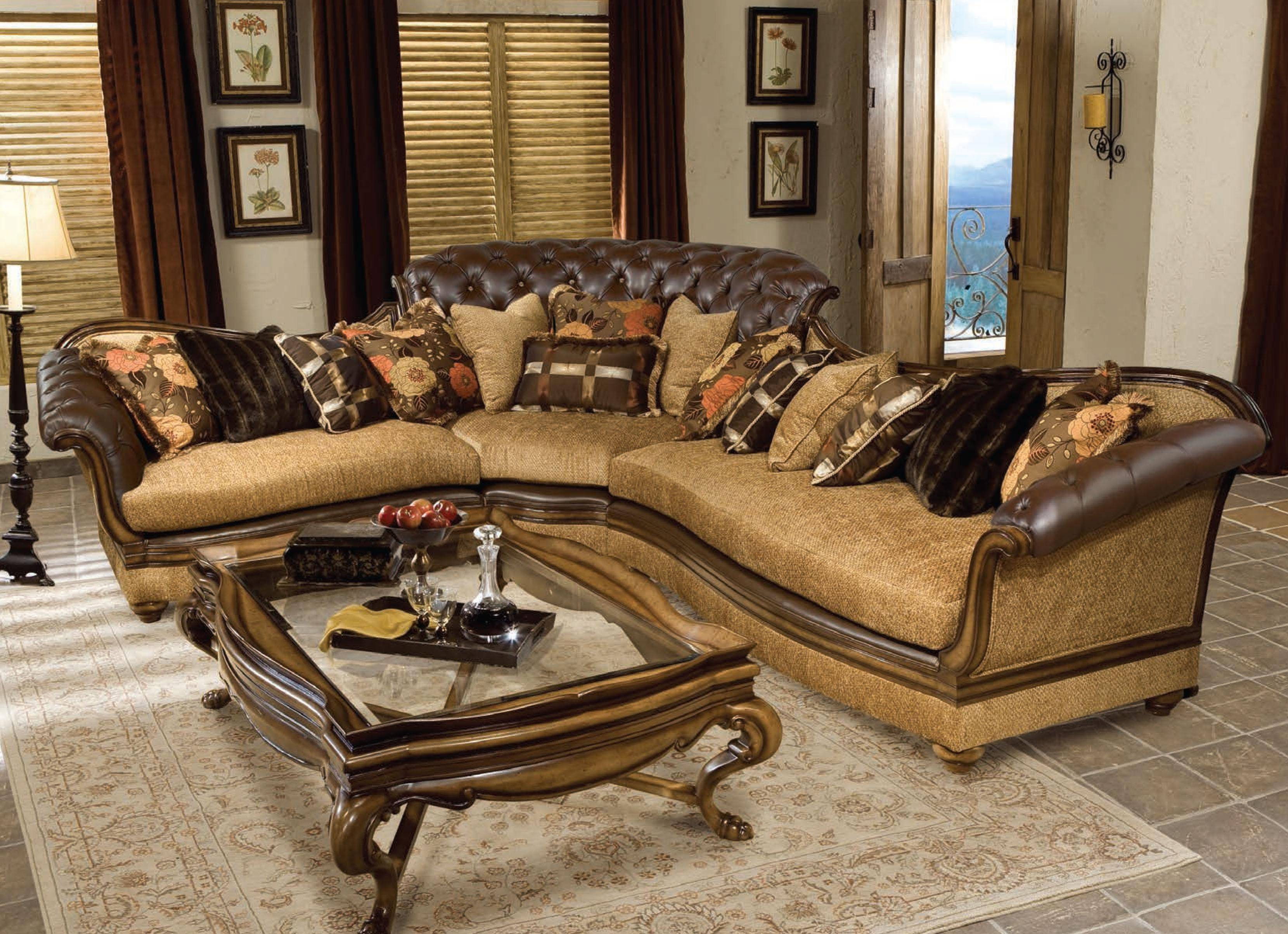 Buy Benetti S Salvatore Sectional Sofa Right Hand Chase In Walnut Dark Brown Chenille Online