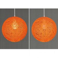 Magideal Rattan Wicker Ball Globe Ceiling Pendant Lamp ...