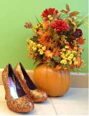 use this glitter shoe
