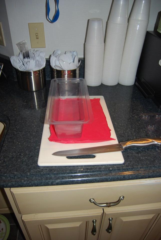 making heart soap