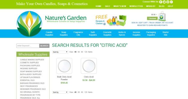 citric acid page