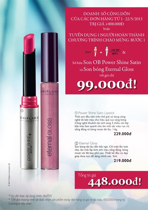 Son Moi Oriflame Giam Gia 78 02 thumb u &atilde;i th&aacute;ng 5 2013: Mua son m&ocirc;i phong c&aacute;ch Hollywood gim gi&aacute; 78%