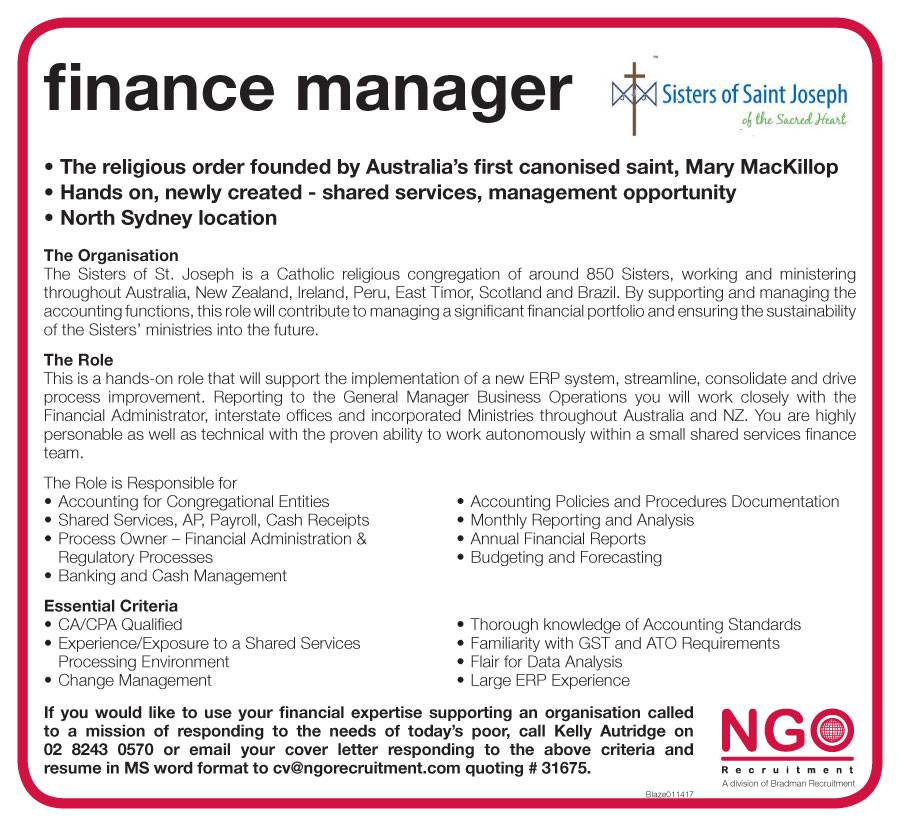 NGO Recruitment Finance Manager and Administration - NGO Recruitment - benefits administrator resume