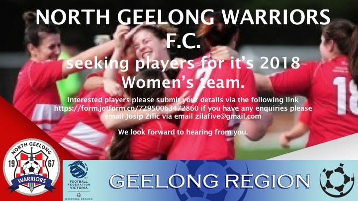 Women Footballers Wanted for 2018!