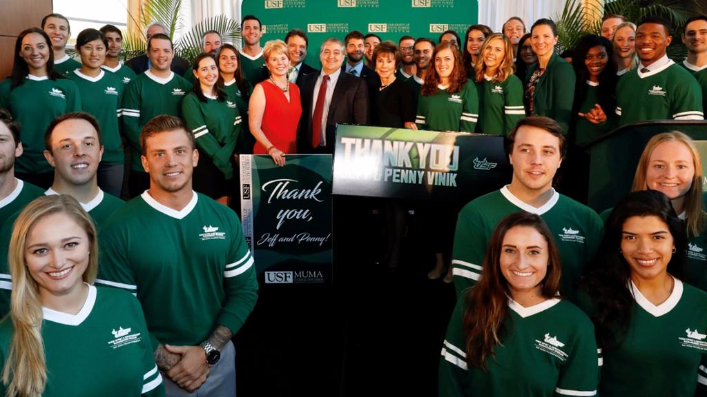 USF honors Vinik Family generosity by naming program after couple