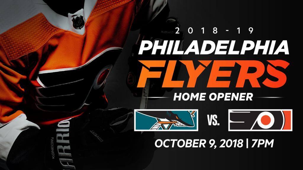 Flyers face San Jose Sharks in 2018-19 home opener