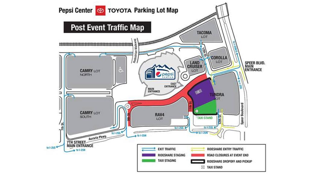 Pepsi Center To Designate Rideshare Area And New Exit Traffic Pattern