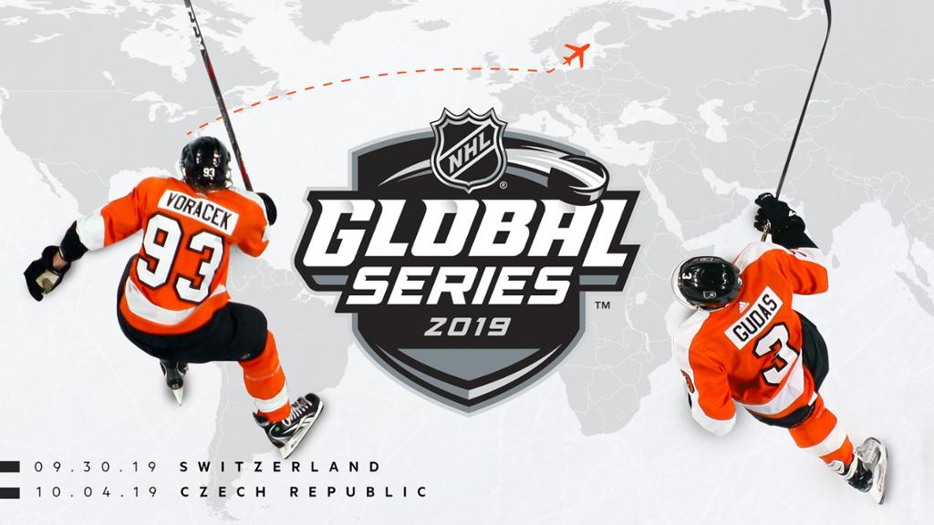 Flyers to play in 2019 NHL Global Series in Switzerland  Czech Republic