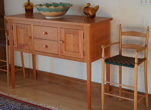 Standard Kitchen Table Top Height Nhwoodworking - Shaker Huntboard, Sideboard, Kitchen Work